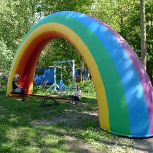 12m rainbow inflatable