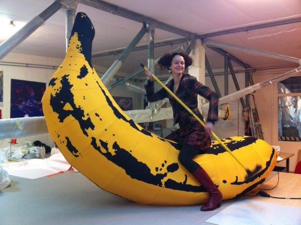 4m Pop Art banana Airworks Rentals