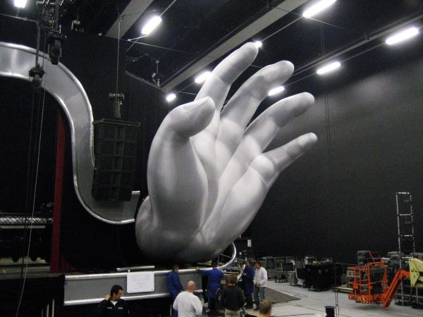 9m printed silver hands