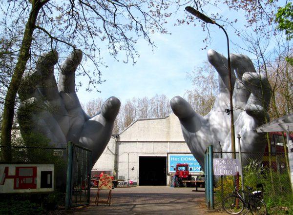 9m printed silver hands Airworks Rentals