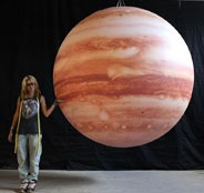 2.5m printed jupiter backlit.