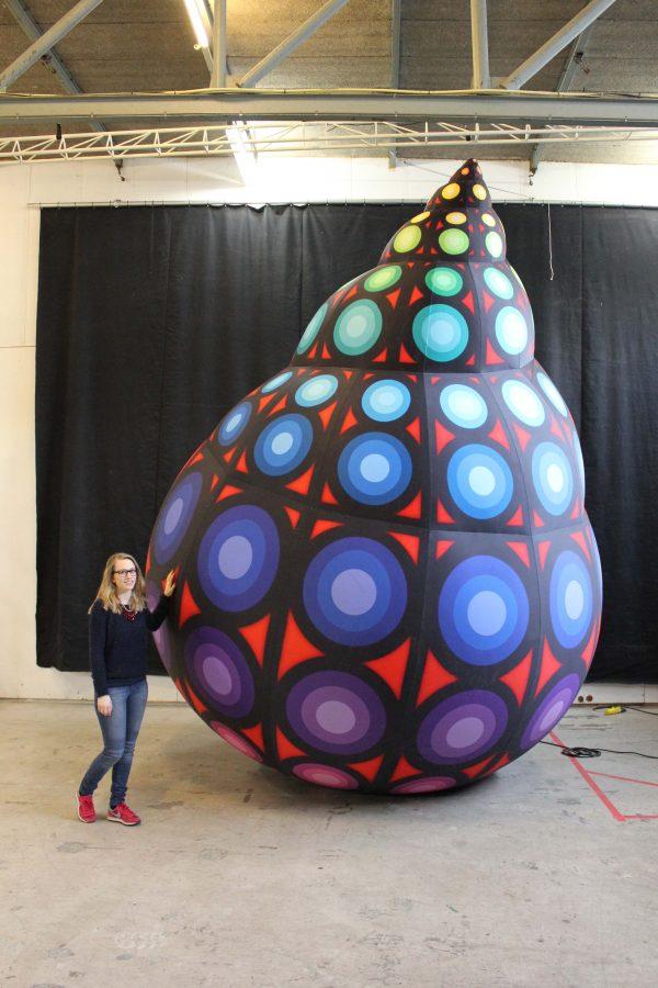 4m neon inflatable nautilus Airworks Rentals