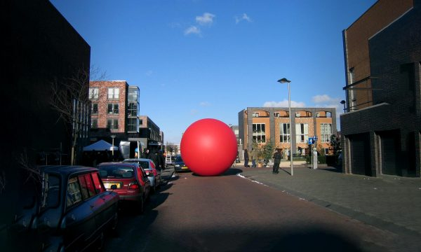 Large inflatable red ball