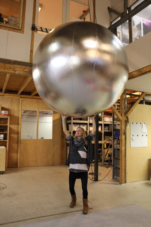 Inflatable silver ball