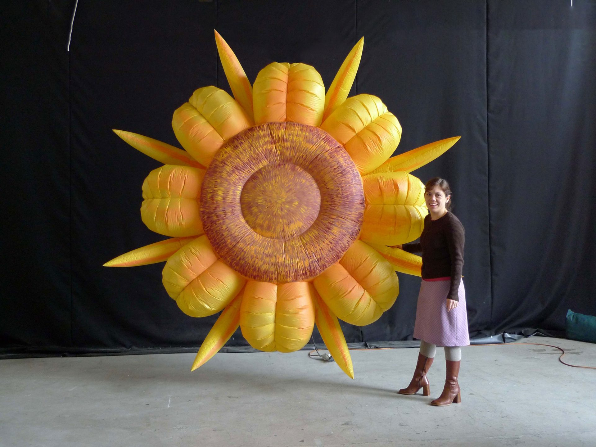 2.5m hand painted inflatable sunflower